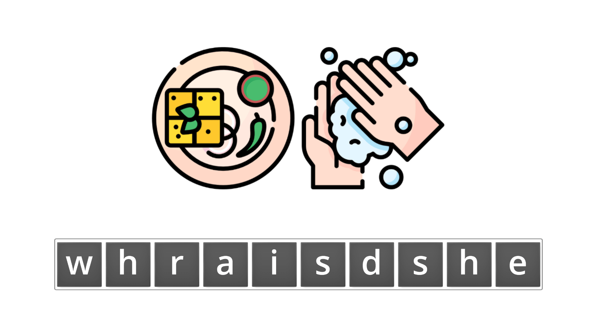 esl resources - flashcards - compound nouns  - unscramble - dishwasher