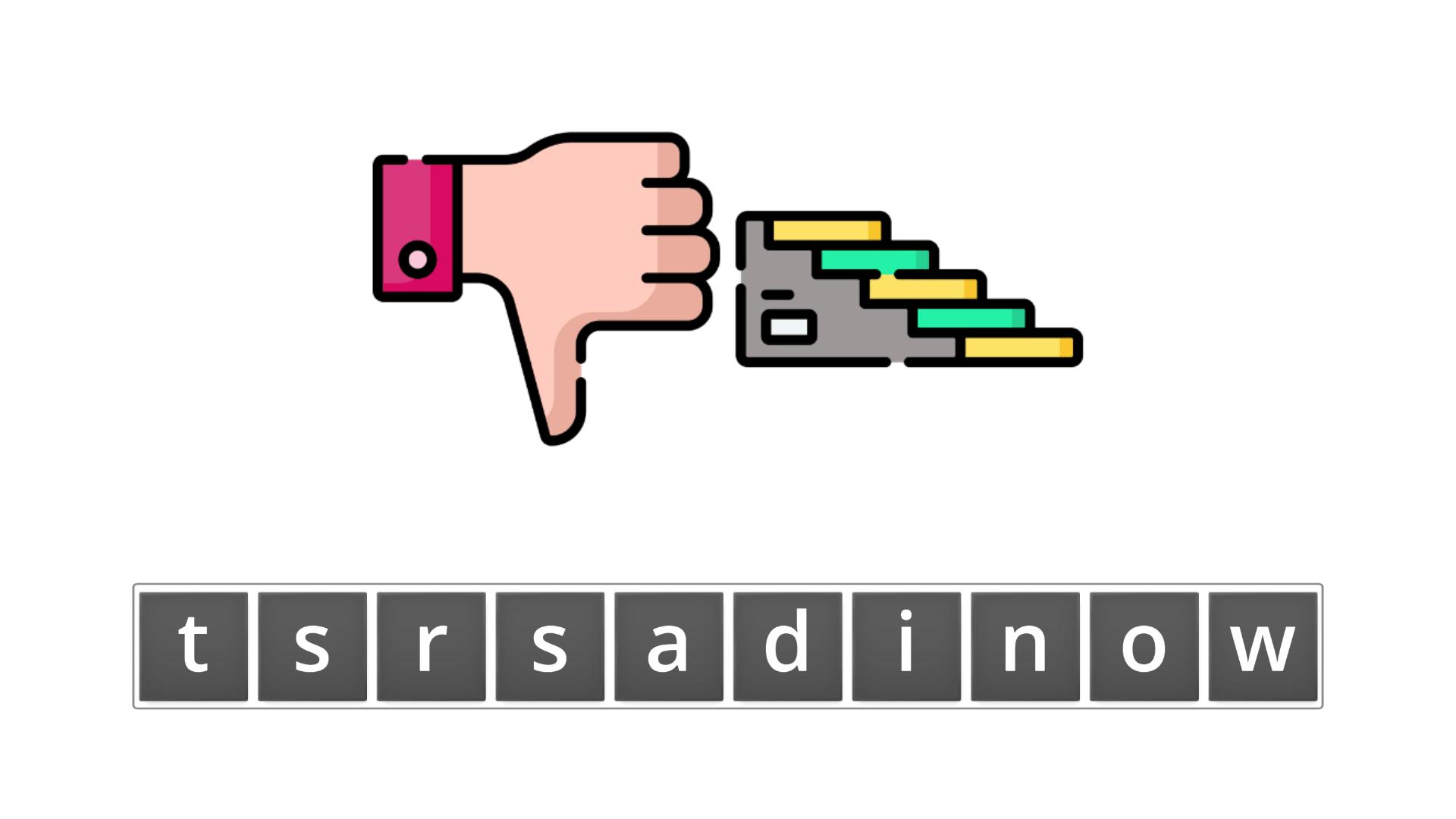 esl resources - flashcards - compound nouns  - unscramble - downstairs