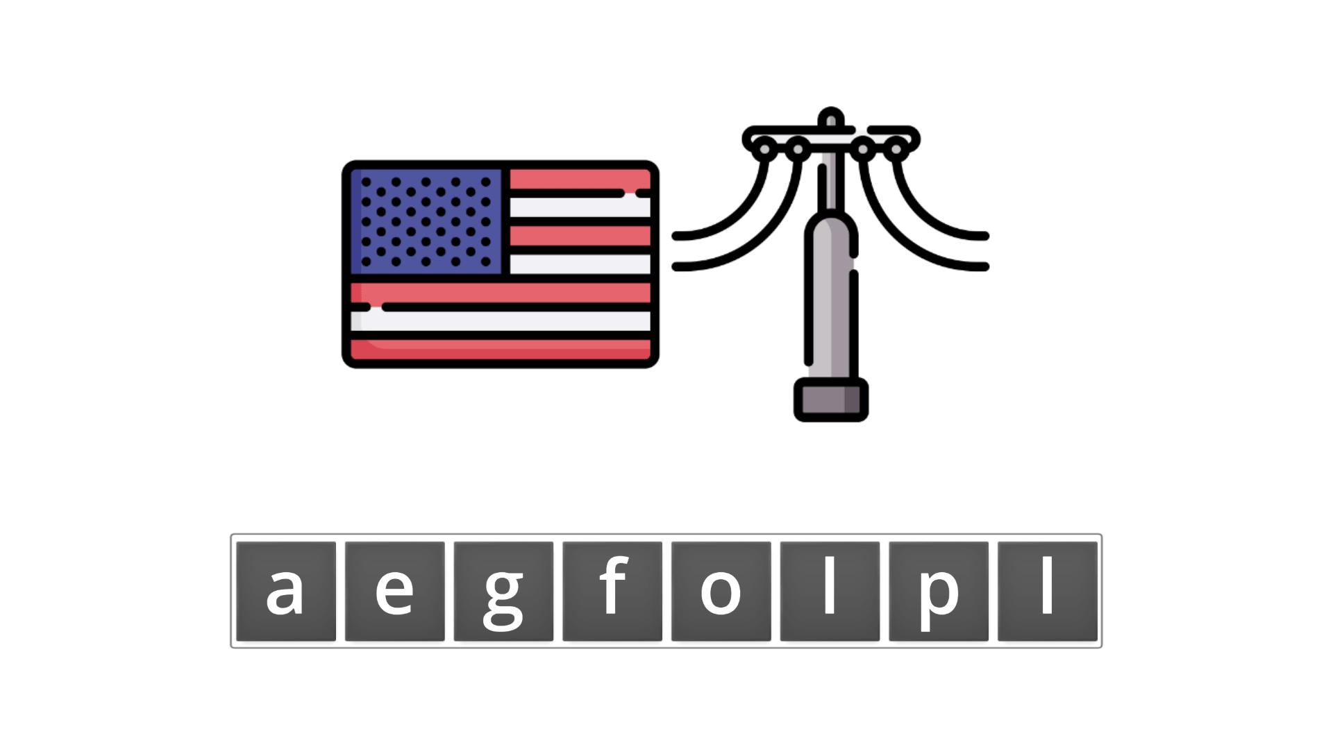 esl resources - flashcards - compound nouns - unscramble - flagpost