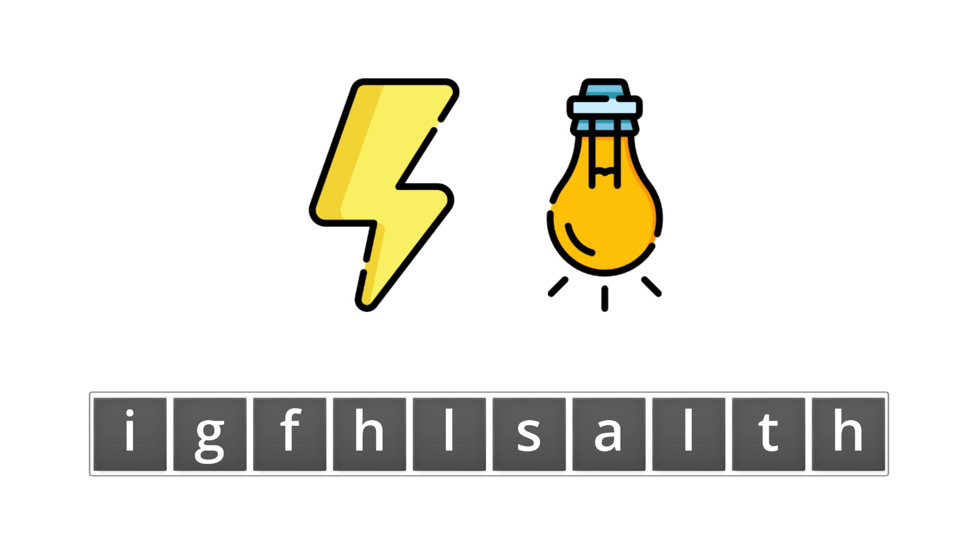 esl resources - flashcards - compound nouns - unscramble - flashlight