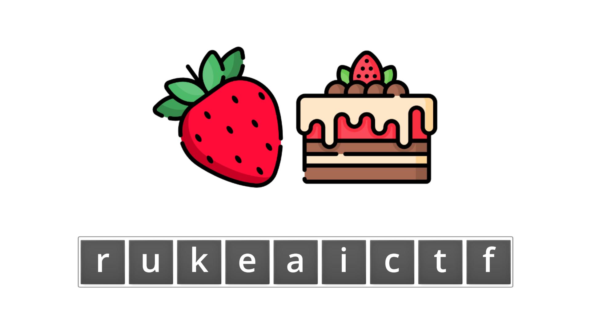 esl resources - flashcards - compound nouns - unscramble - fruitcake