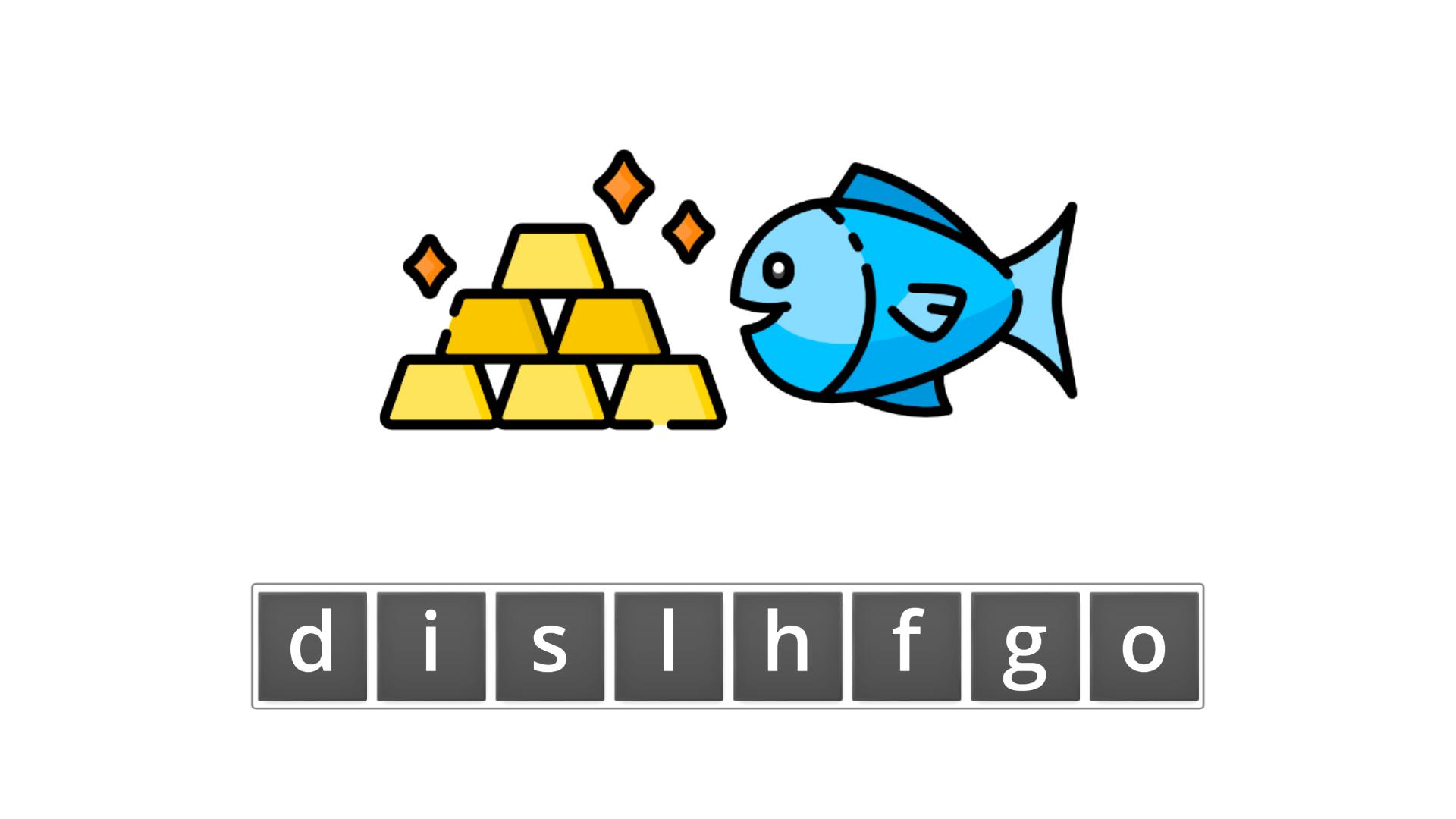 esl resources - flashcards - compound nouns - unscramble - goldfish