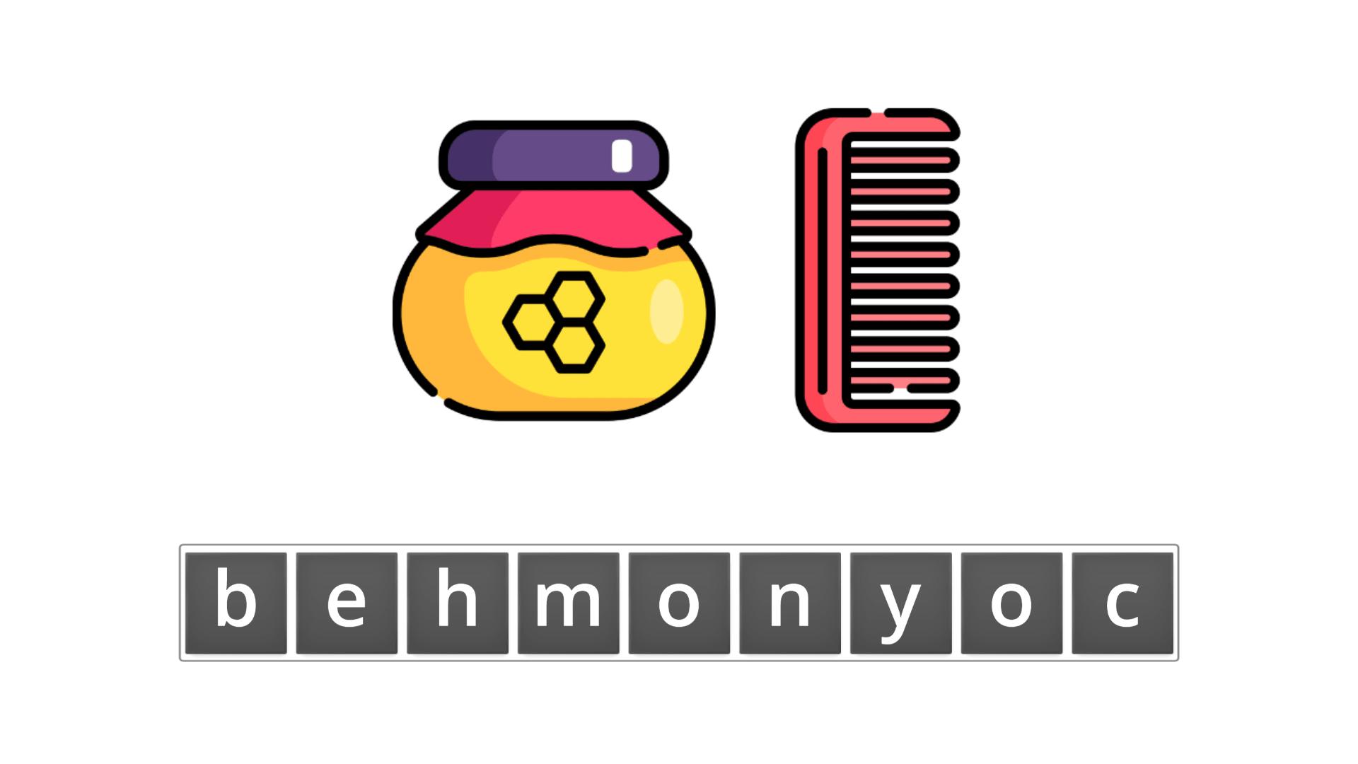 esl resources - flashcards - compound nouns  - unscramble - honeycomb