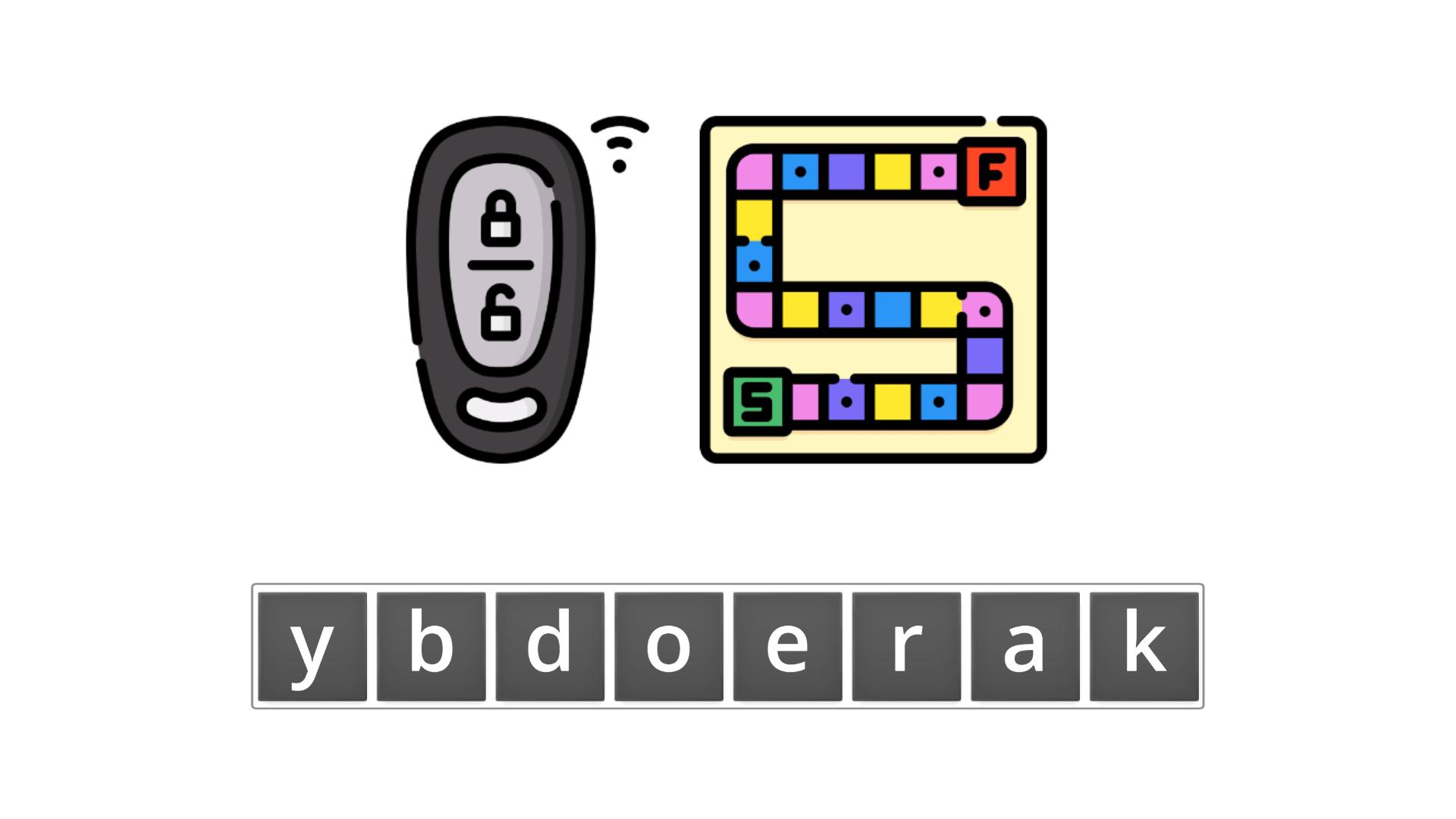 esl resources - flashcards - compound nouns  - unscramble - keyboard