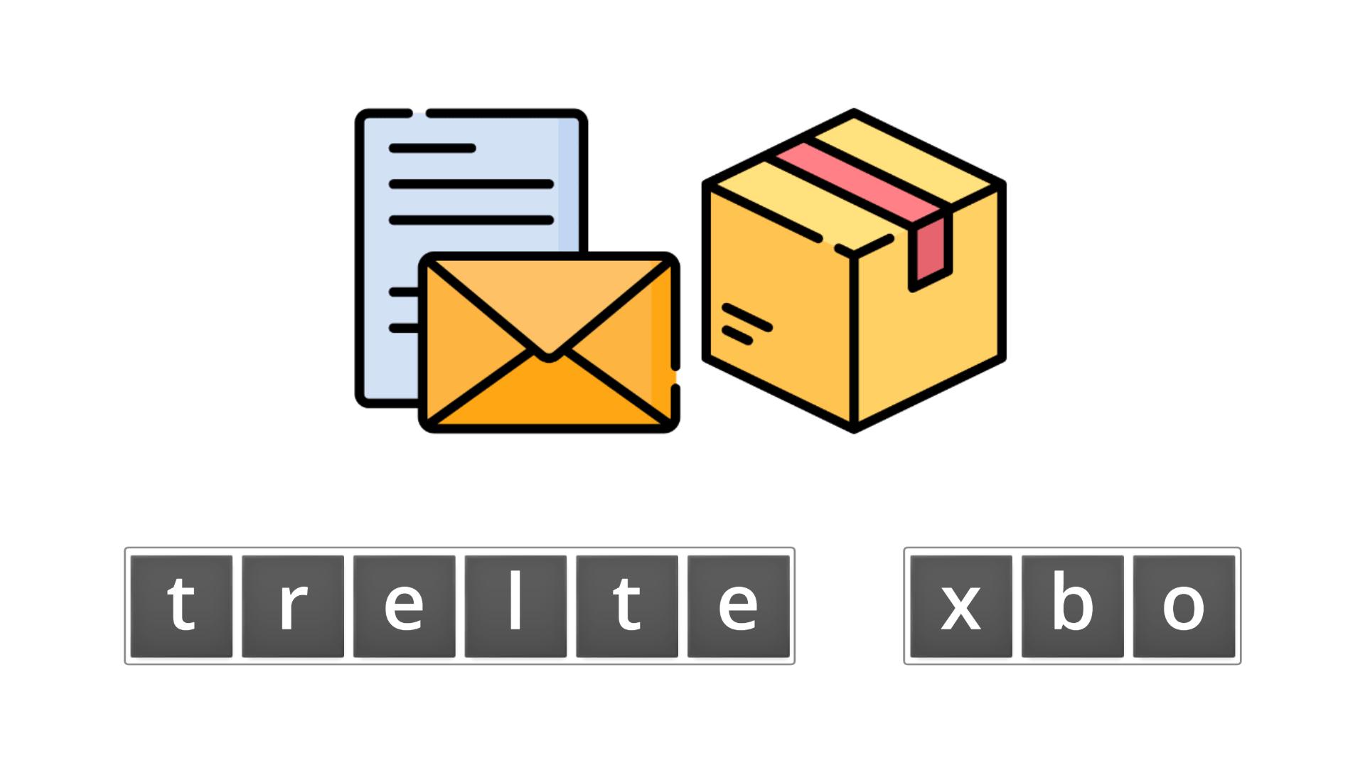 esl resources - flashcards - compound nouns  - unscramble - letter box