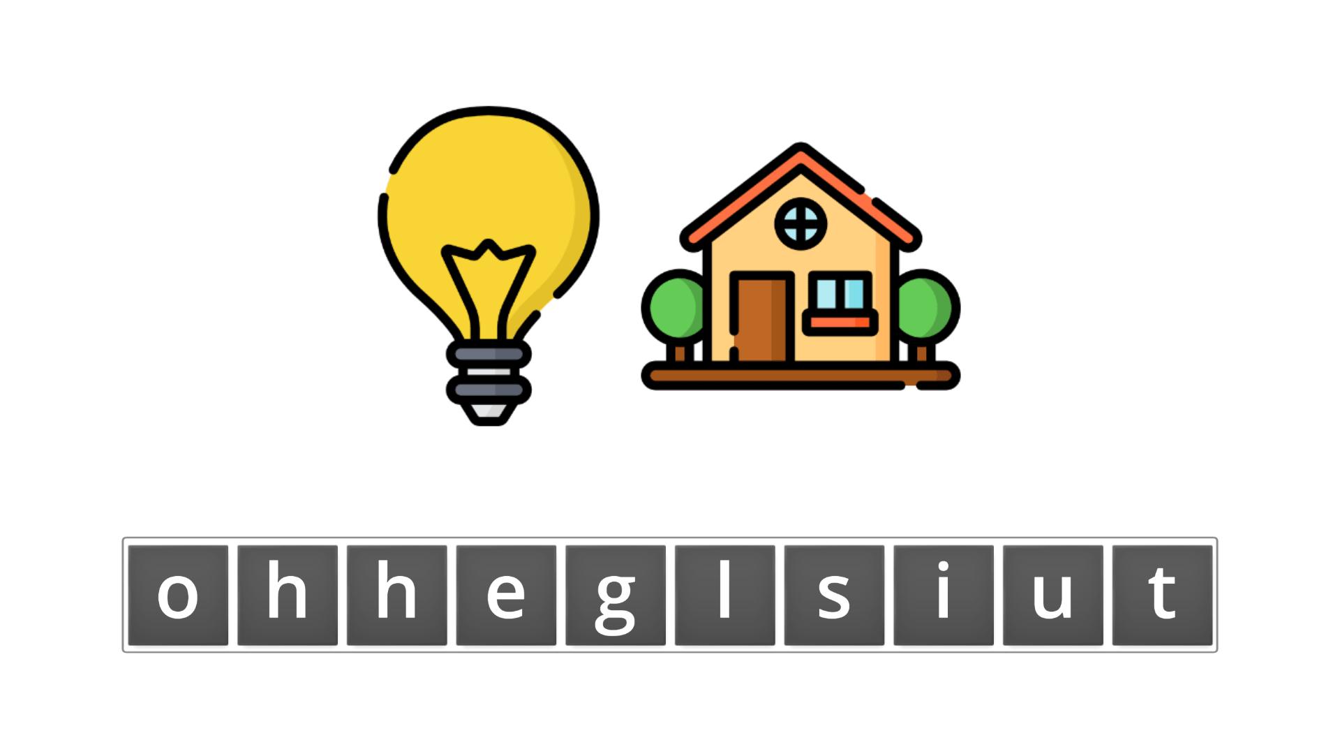 esl resources - flashcards - compound nouns  - unscramble - lighthouse