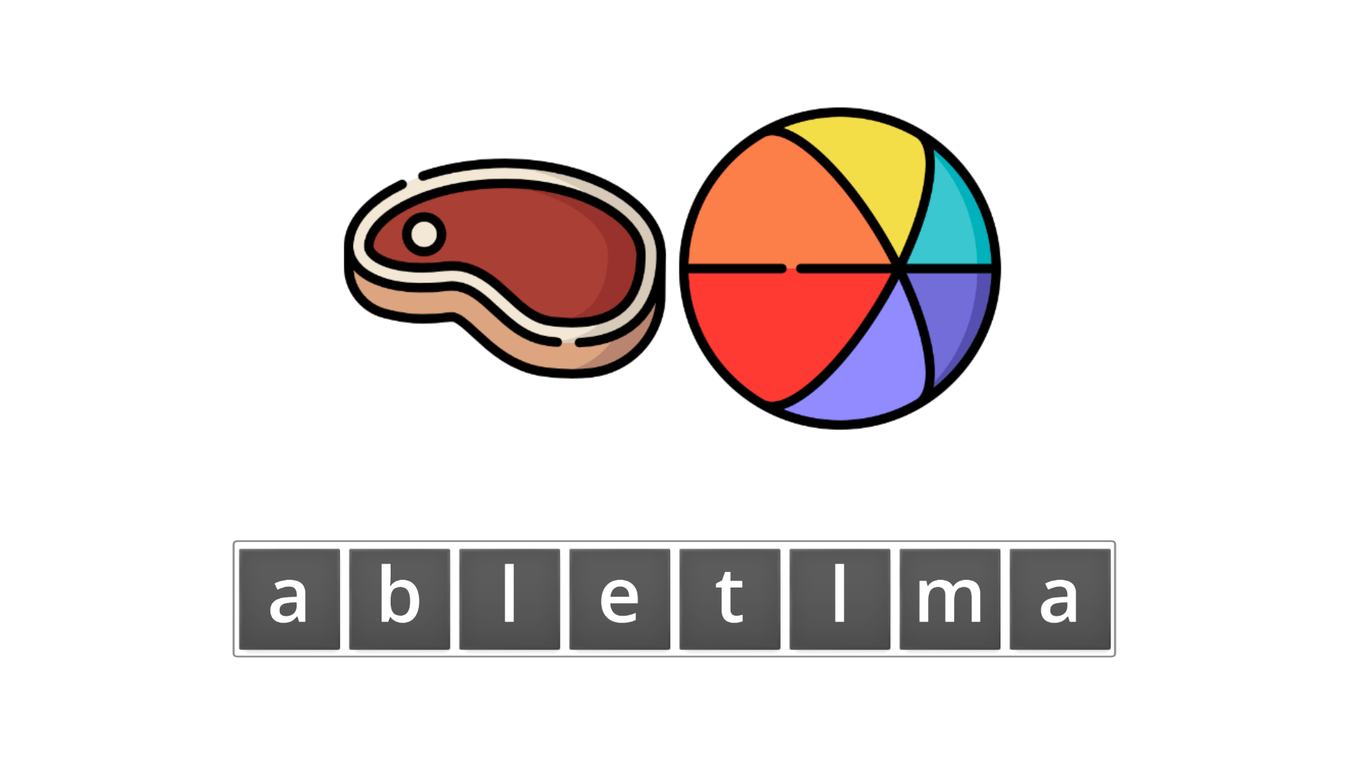 esl resources - flashcards - compound nouns  - unscramble - meatball
