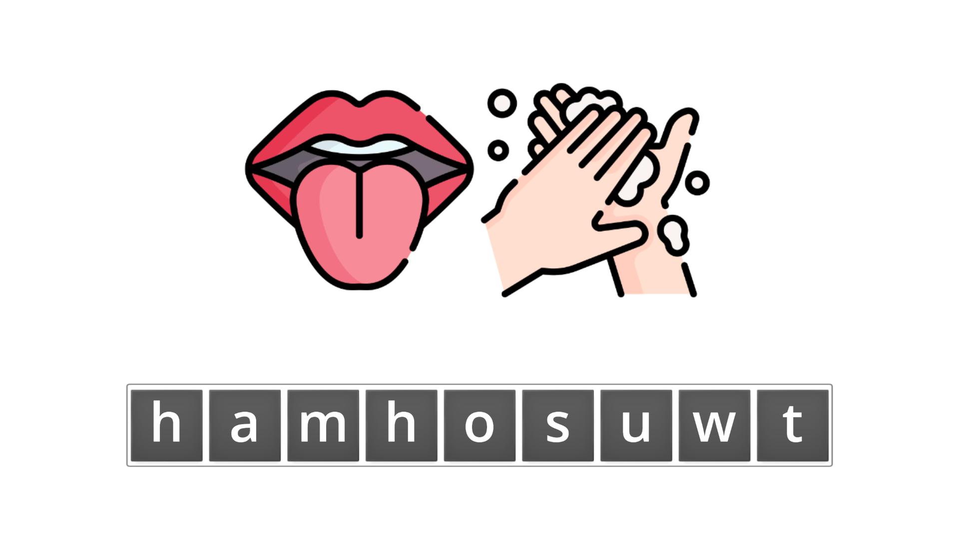 esl resources - flashcards - compound nouns  - unscramble - mouthwash