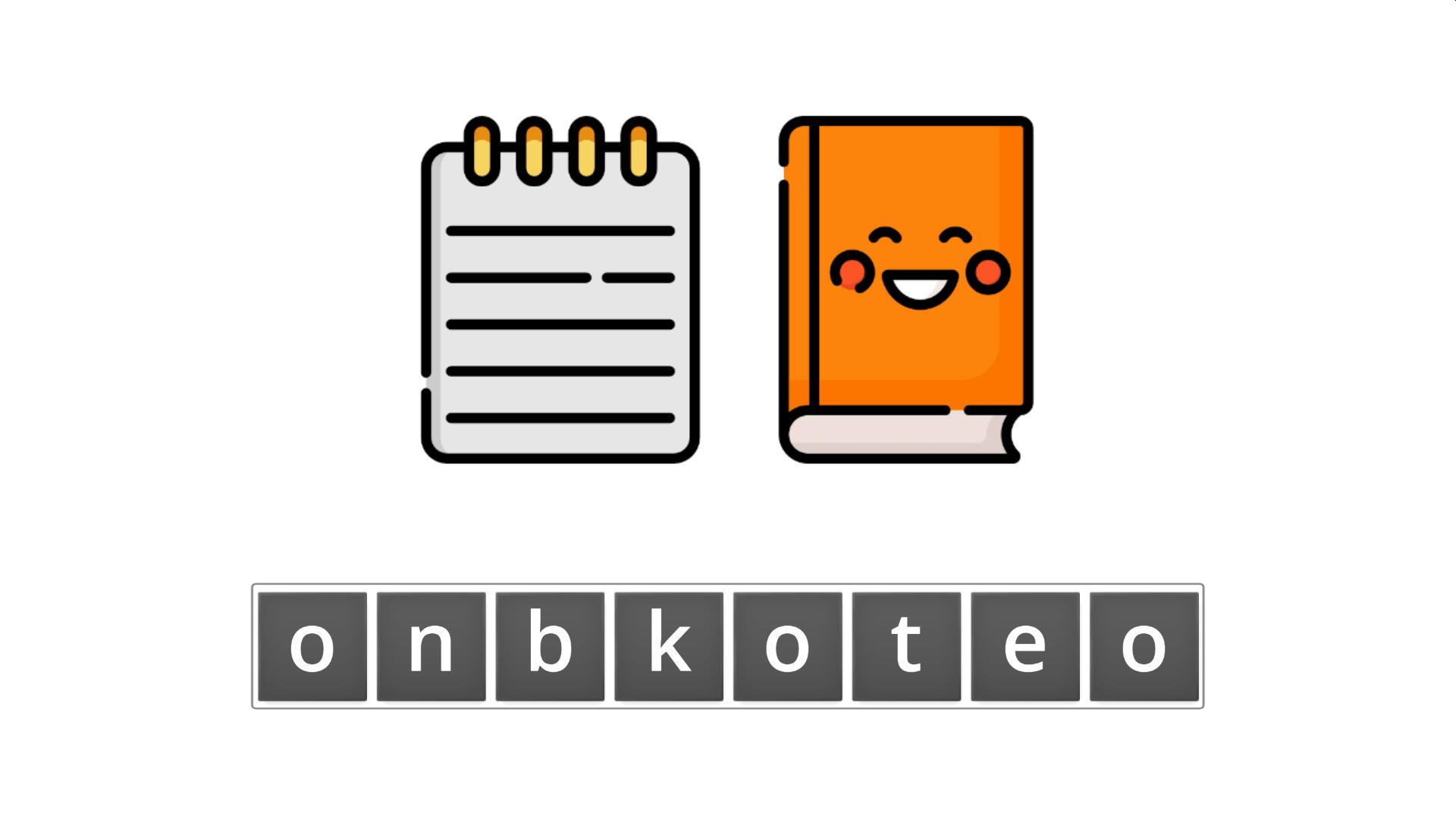 esl resources - flashcards - compound nouns  - unscramble - notebook