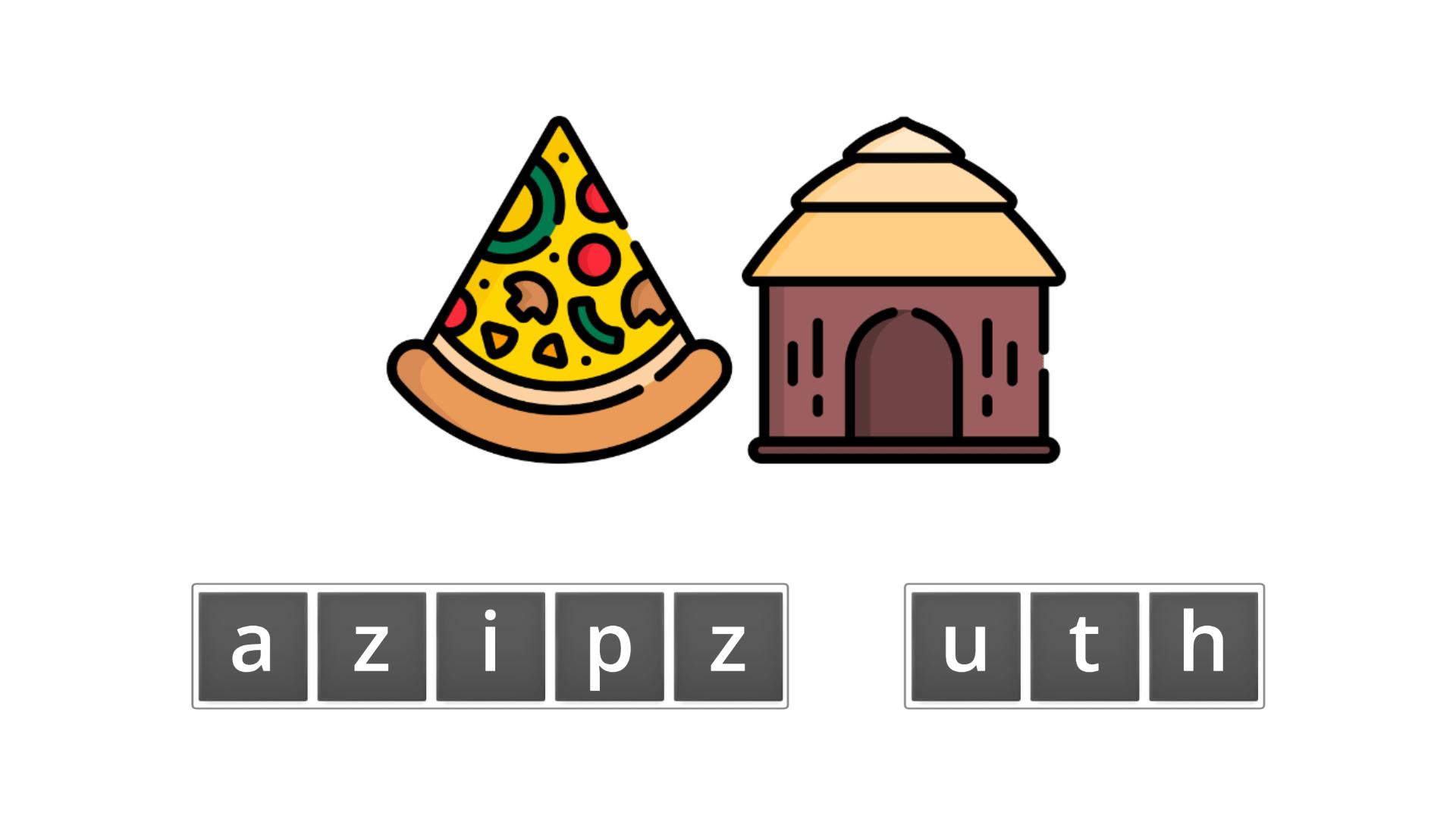 esl resources - flashcards - compound nouns - unscramble - pizza hut