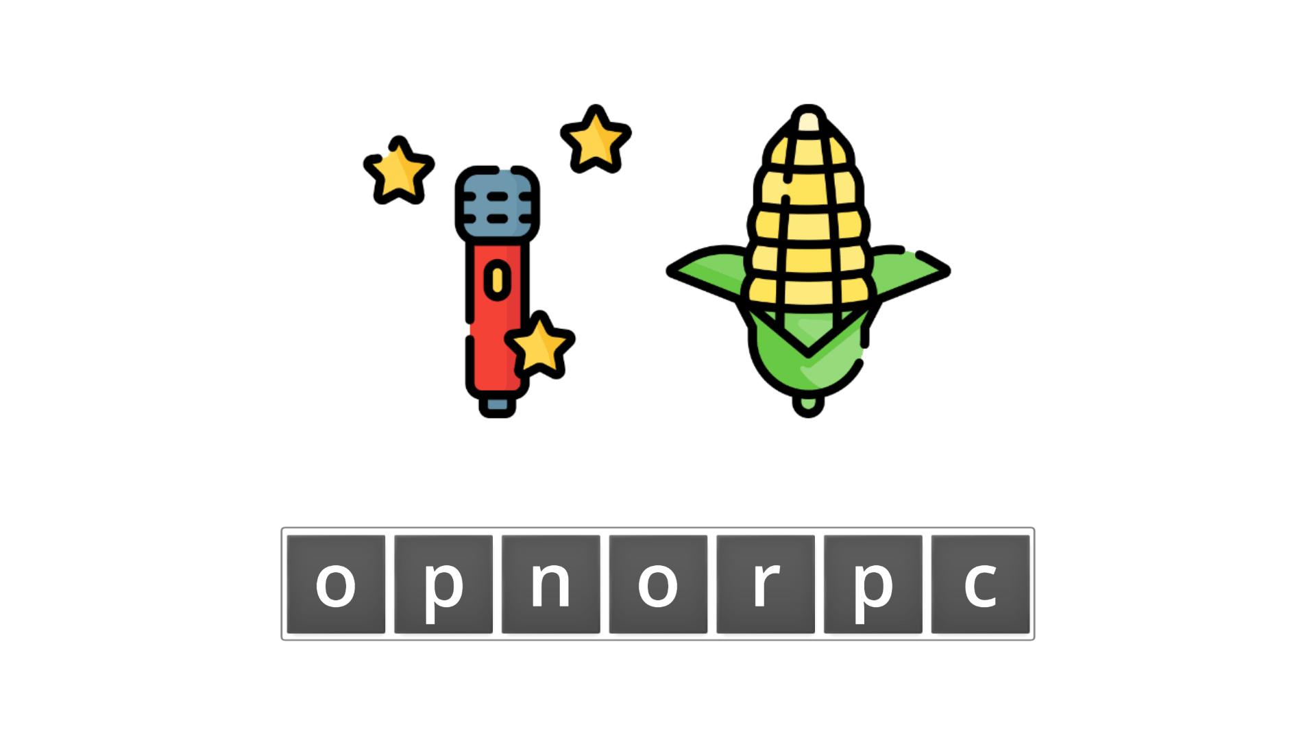 esl resources - flashcards - compound nouns  - unscramble - popcorn