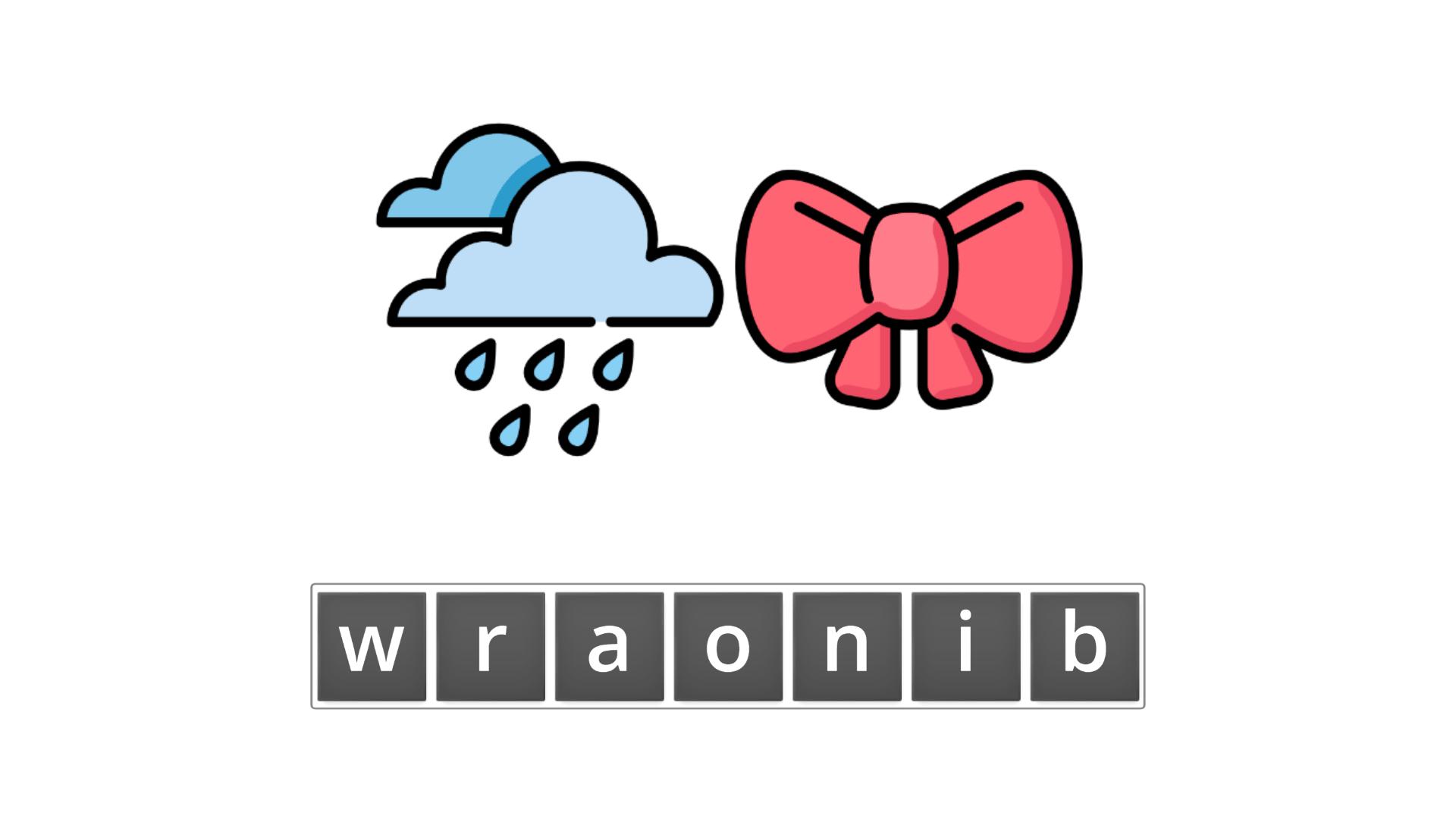 esl resources - flashcards - compound nouns  - unscramble - rainbow