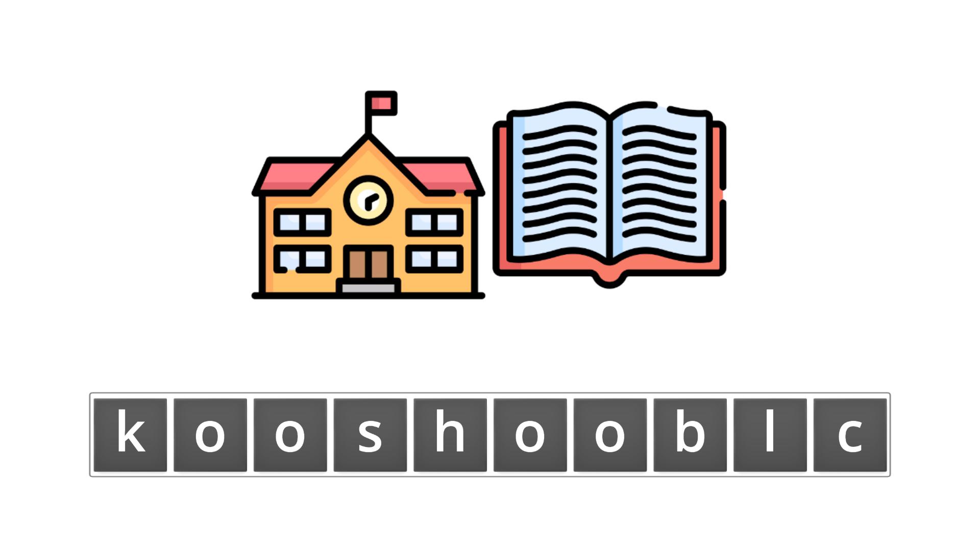 esl resources - flashcards - compound nouns  - unscramble - schoolbook