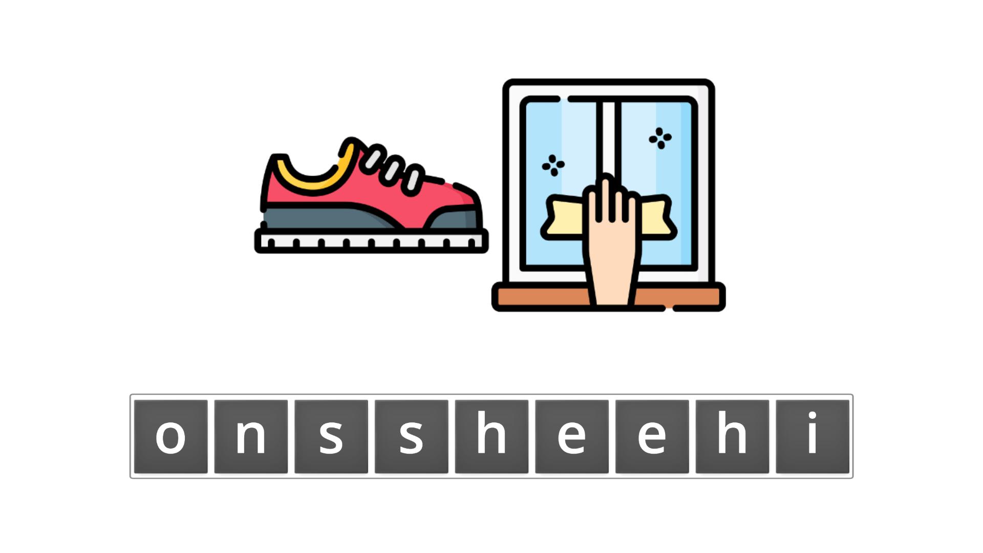 esl resources - flashcards - compound nouns  - unscramble - shoeshine