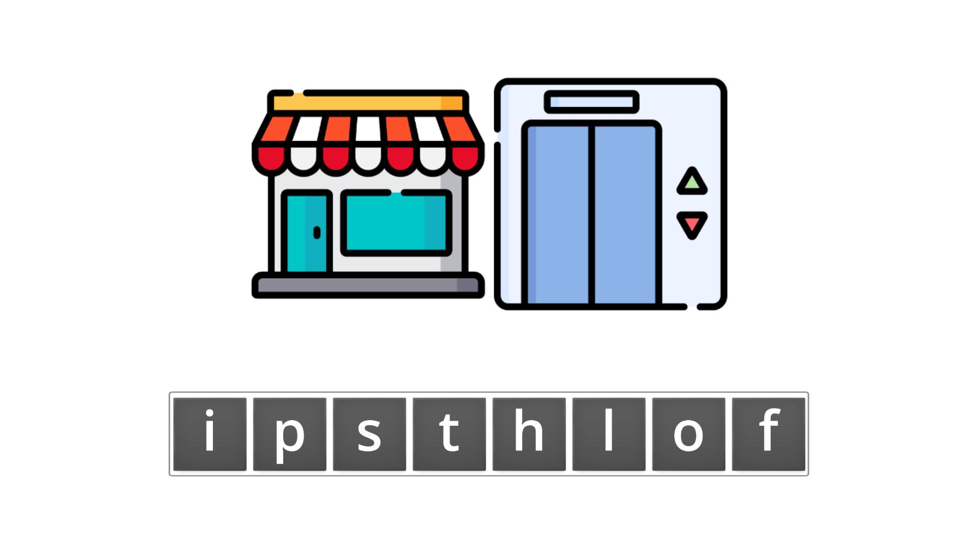 esl resources - flashcards - compound nouns  - unscramble - shoplift