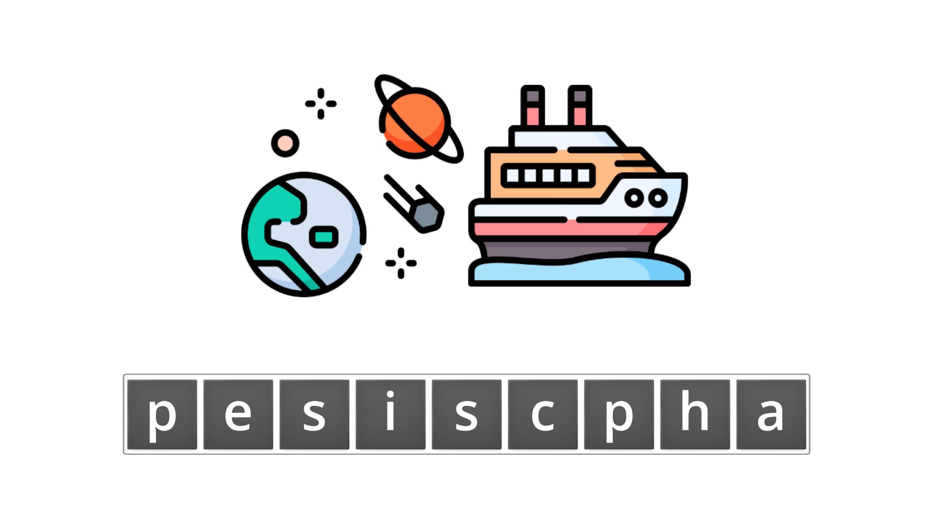 esl resources - flashcards - compound nouns  - unscramble - spaceship