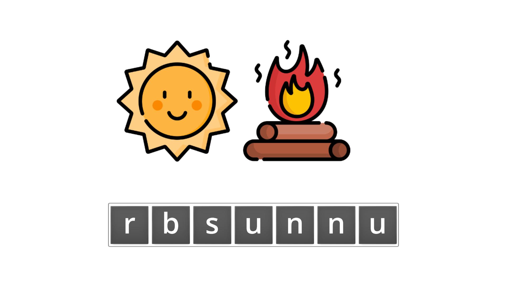 esl resources - flashcards - compound nouns  - unscramble - sunburn