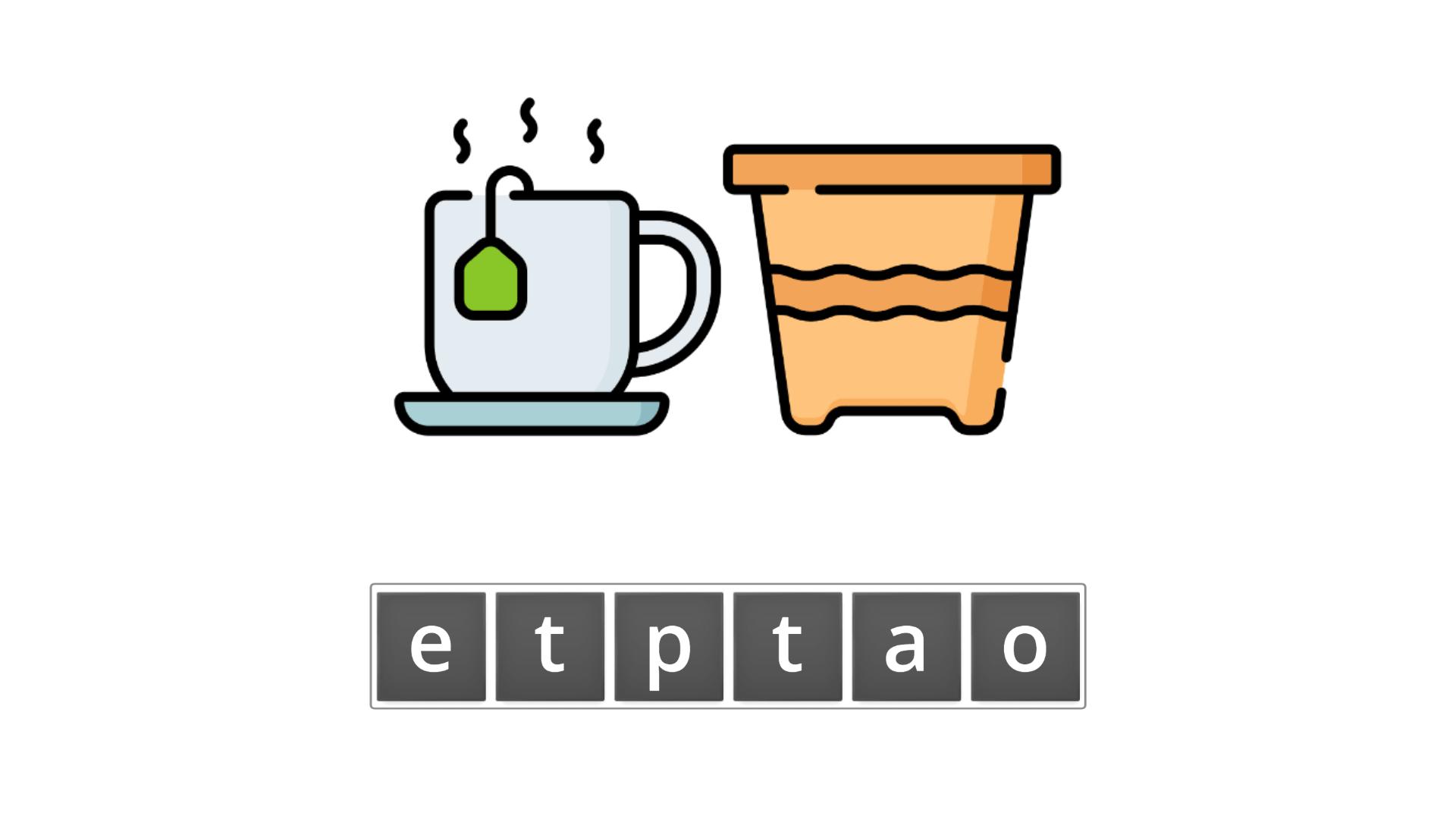 esl resources - flashcards - compound nouns  - unscramble - teapot