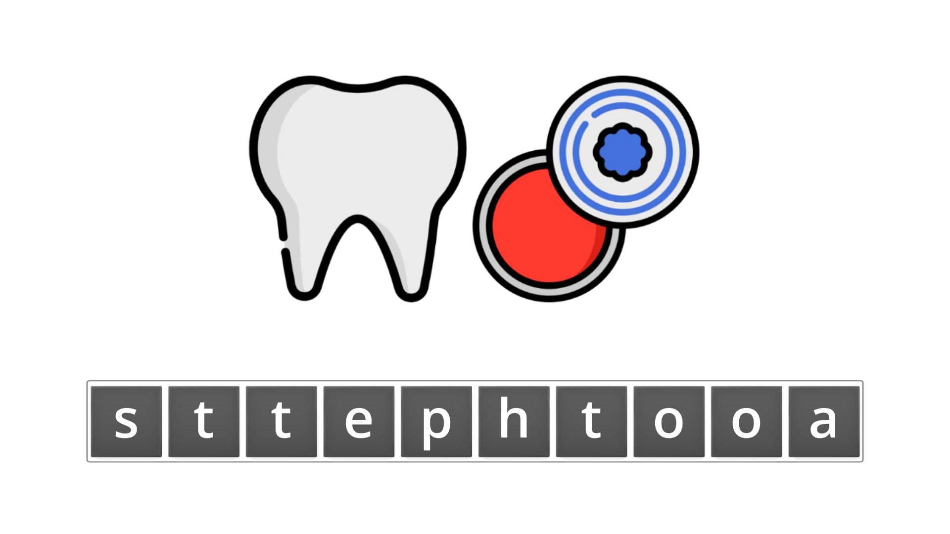 esl resources - flashcards - compound nouns  - unscramble - toothpaste