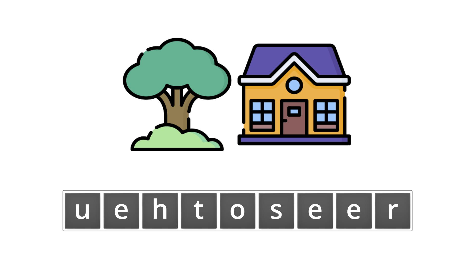 esl resources - flashcards - compound nouns  - unscramble - treehouse