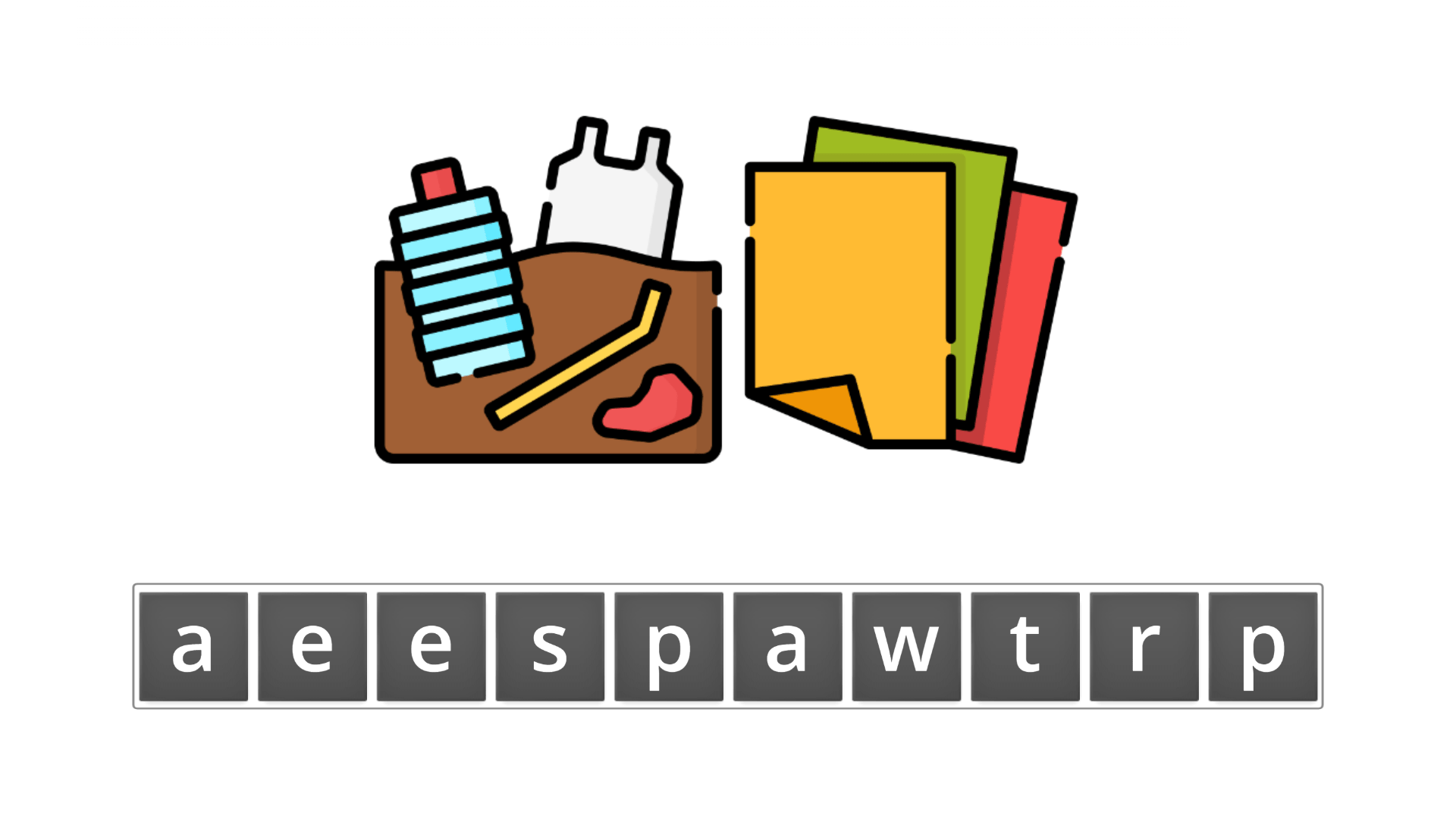 esl resources - flashcards - compound nouns  - unscramble - wastepaper