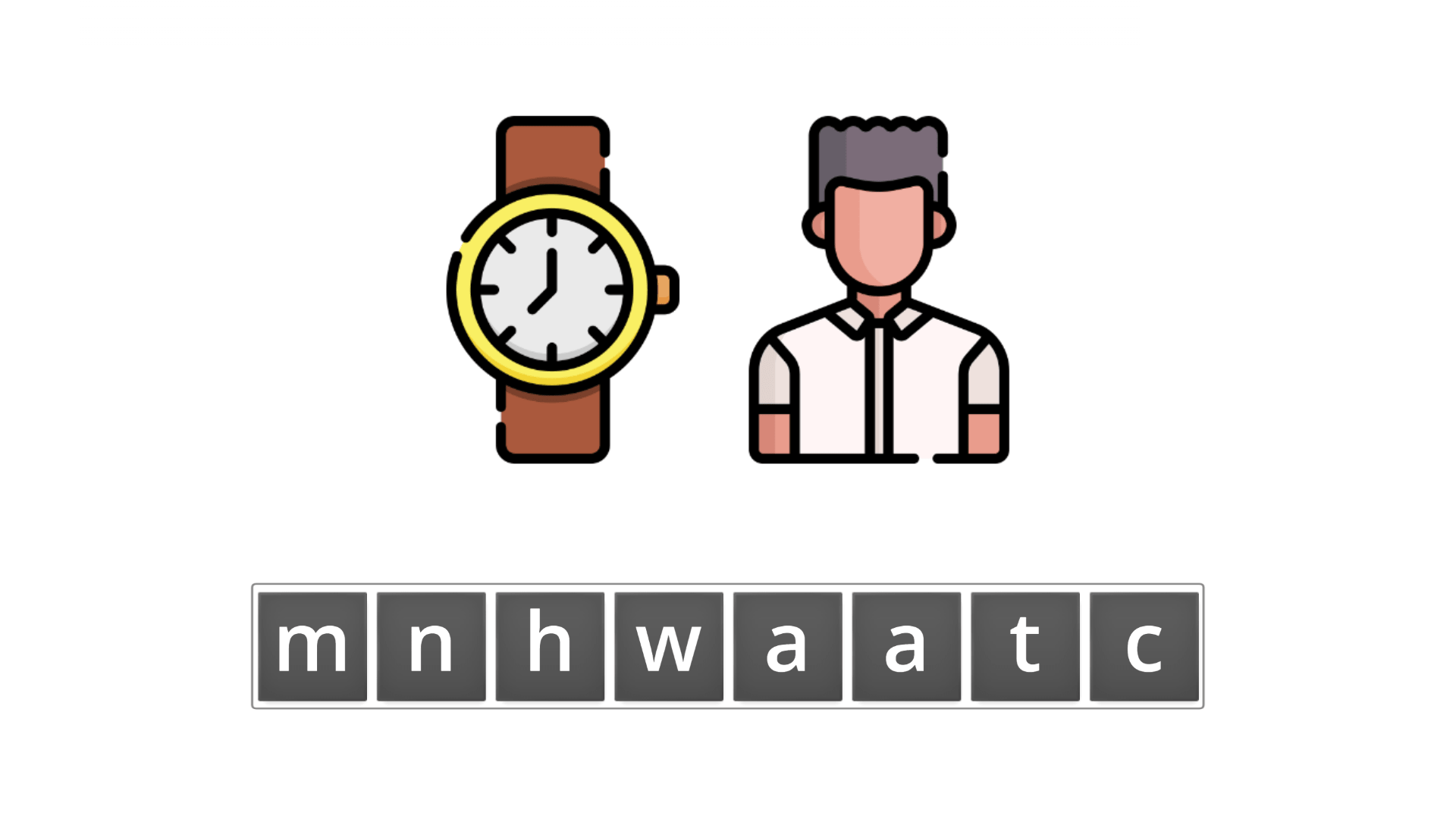 esl resources - flashcards - compound nouns  - unscramble - watchman