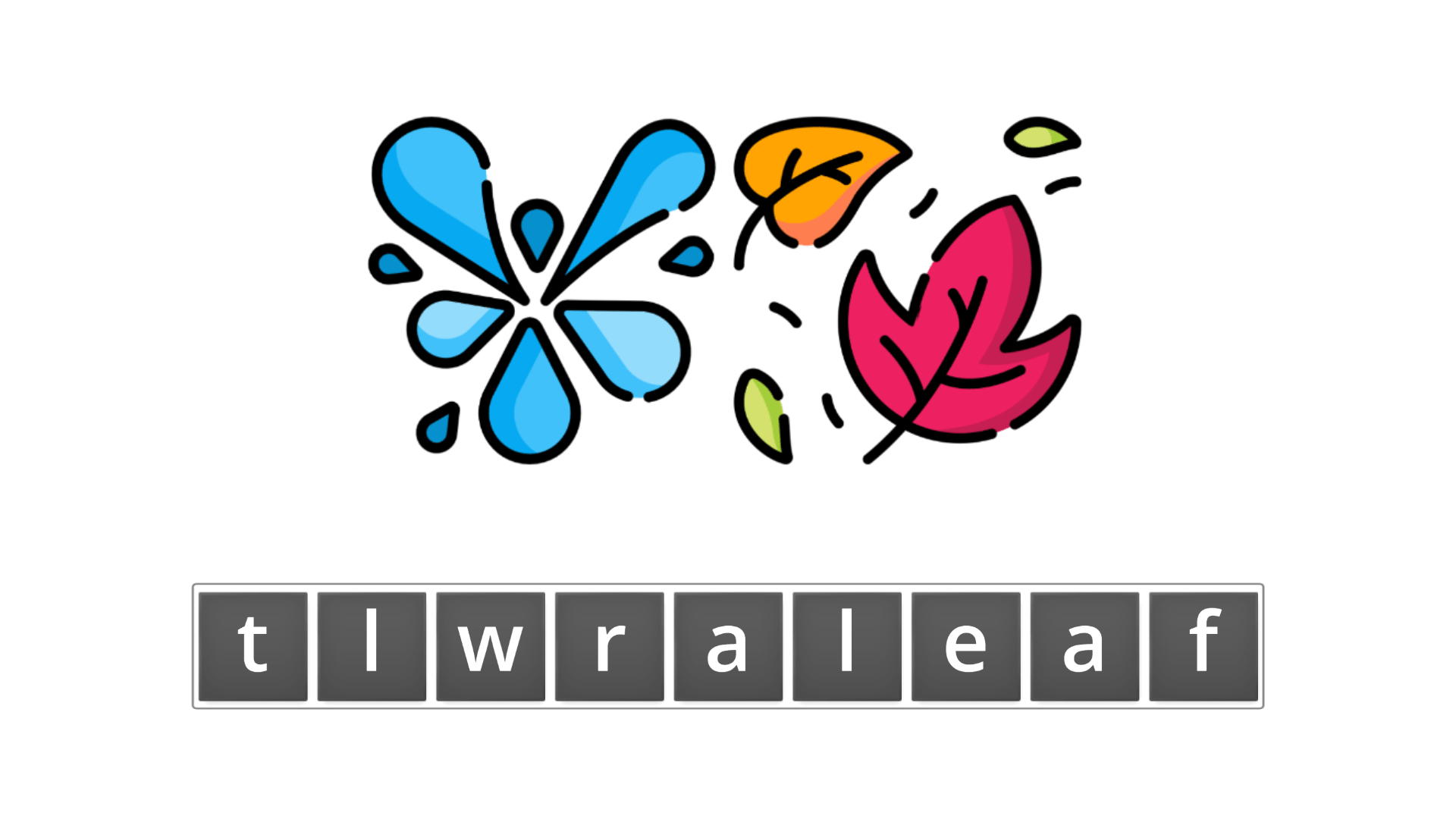 esl resources - flashcards - compound nouns  - unscramble - waterfall