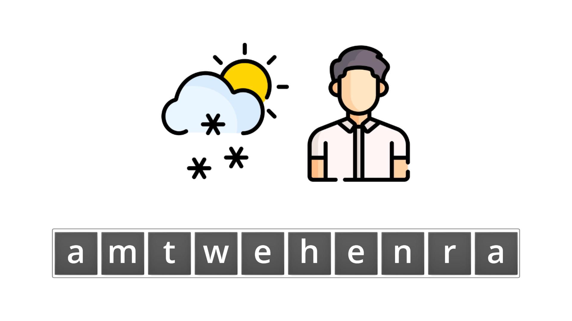 esl resources - flashcards - compound nouns  - unscramble - weatherman