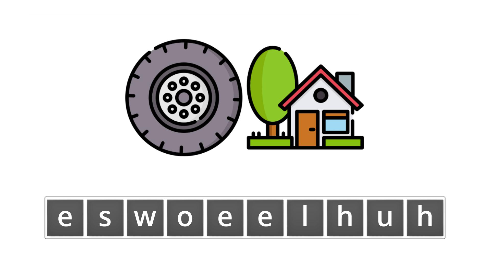 esl resources - flashcards - compound nouns  - unscramble - wheelhouse